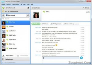 چت فیس بوک در اسکایپ