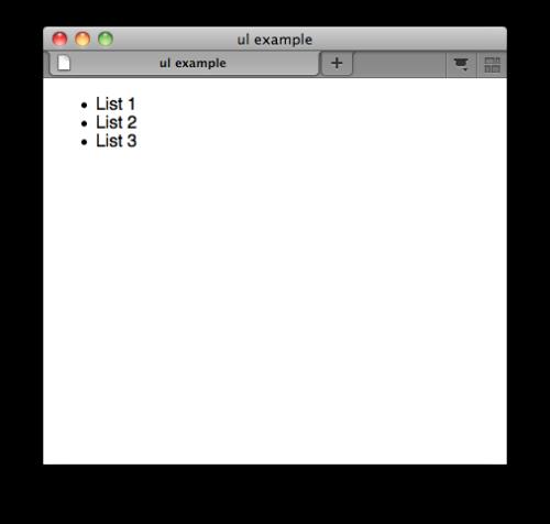 لیست بدون ترتیب در HTML