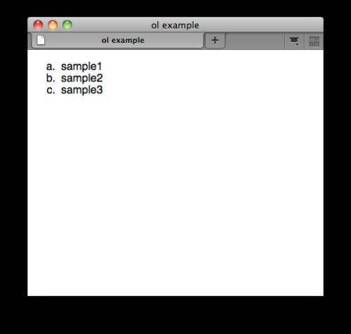 لیست با ترتیب در HTML