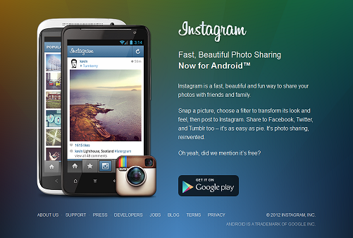 instagram برای اندروید