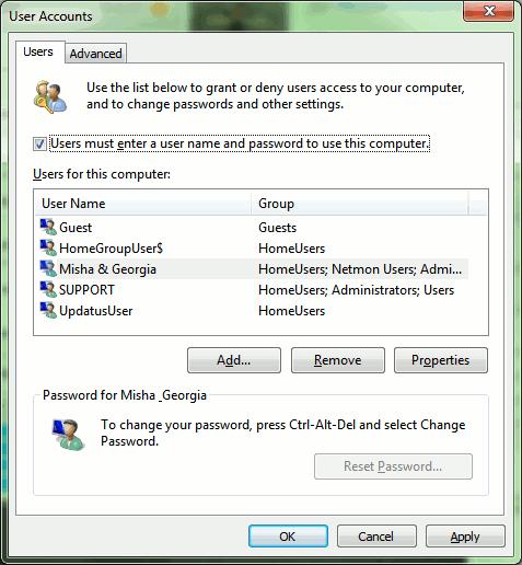 لاگین ویندوز 7