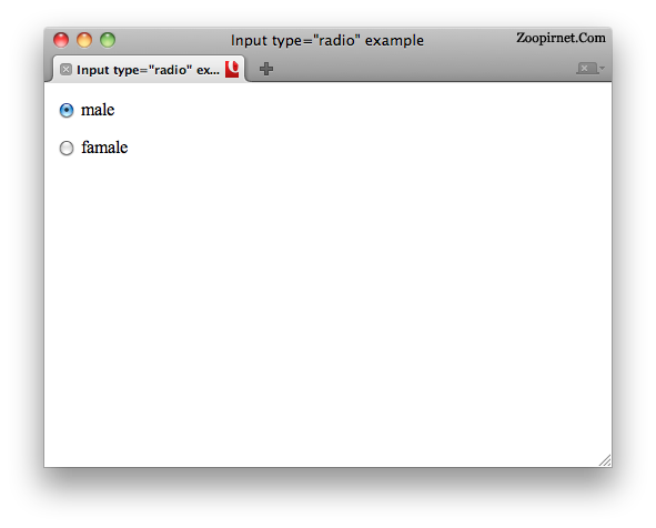 Input radio in HTML