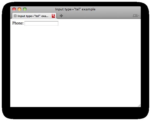 Input tel in HTML