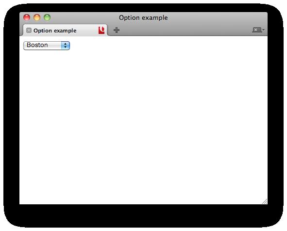Menu In HTML