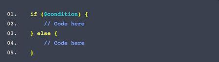 ساختار دستور if در PHP